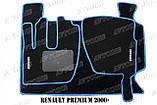 Renault Premium 2000 - ворсові килимки (сірий-синій) ЛЮКС, фото 8