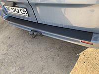 Opel Vivaro Накладка на задний бампер с загибом (ABS-пластик)