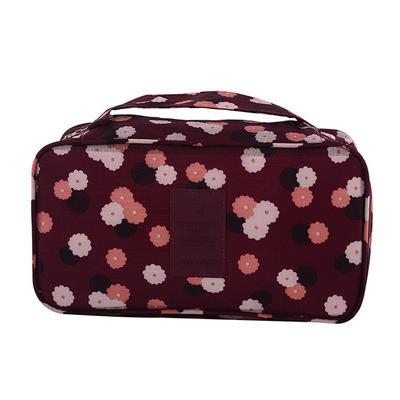 Органайзер для нижнего белья с рисунком Genner бордовый в цветы 01051/02