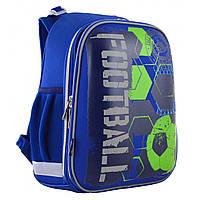 """Рюкзак школьный каркасный ортопедический для мальчика Н-12  """"Football"""", фото 1"""