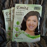 Краска для волос на основе хны Эмита чёрная, Hair color Emita Black, 60г
