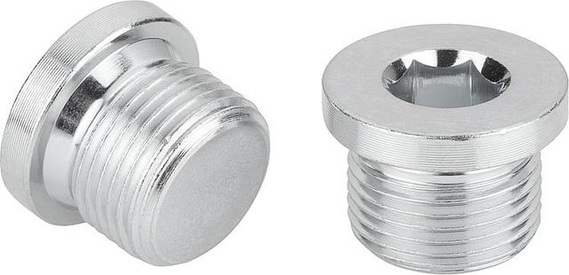 DIN 908 заглушка резьбовая цилиндрическая с дюймовой резьбой