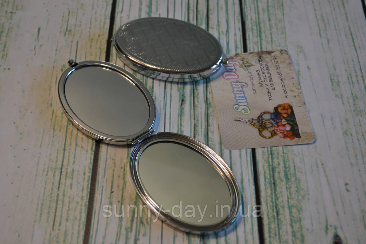 """Заготовка для оформления вышивки """"Зеркало"""", цвет - серебро/глянец"""