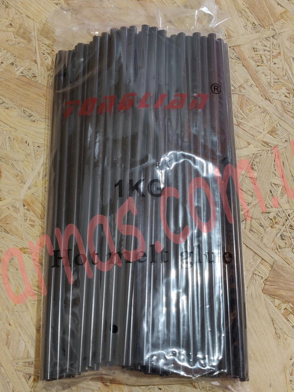 Клей стержневой силиконовый черный 7мм (1 кг)