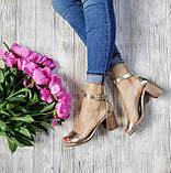 Элегантные женские кожаные босоножки (золото), фото 5