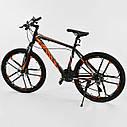 Спортивный велосипед ченый с оранжевым CORSO SPIDER 26 дюймов 21 скорость алюминиевая рама 17дюймов, фото 3