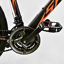 Спортивный велосипед ченый с оранжевым CORSO SPIDER 26 дюймов 21 скорость алюминиевая рама 17дюймов, фото 4