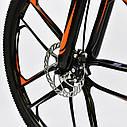 Спортивный велосипед ченый с оранжевым CORSO SPIDER 26 дюймов 21 скорость алюминиевая рама 17дюймов, фото 5