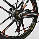 Спортивный велосипед ченый с оранжевым CORSO SPIDER 26 дюймов 21 скорость алюминиевая рама 17дюймов, фото 7