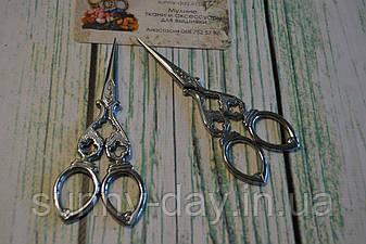 """Ножницы для рукоделия """"Вычурные"""", цвет - серебро"""