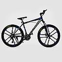 Спортивный велосипед черный с синим CORSO SPIDER 26 дюймов 21 скорость алюминиевая рама 17дюймов, фото 2