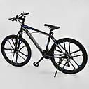 Спортивный велосипед черный с синим CORSO SPIDER 26 дюймов 21 скорость алюминиевая рама 17дюймов, фото 3