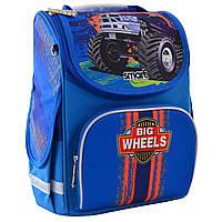 """Рюкзак шкільний каркасний ортопедичний для хлопчика PG-11 """"Big Wheels"""", SMART"""