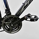 Спортивный велосипед черный с синим CORSO SPIDER 26 дюймов 21 скорость алюминиевая рама 17дюймов, фото 4