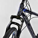 Спортивный велосипед черный с синим CORSO SPIDER 26 дюймов 21 скорость алюминиевая рама 17дюймов, фото 6