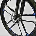 Спортивный велосипед черный с синим CORSO SPIDER 26 дюймов 21 скорость алюминиевая рама 17дюймов, фото 9