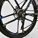 Спортивный велосипед черный с синим CORSO SPIDER 26 дюймов 21 скорость алюминиевая рама 17дюймов, фото 7