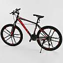 Спортивный велосипед черный с красным CORSO SPIDER 26 дюймов 21 скорость алюминиевая рама 17дюймов, фото 3