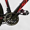Спортивный велосипед черный с красным CORSO SPIDER 26 дюймов 21 скорость алюминиевая рама 17дюймов, фото 4