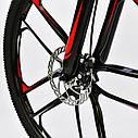 Спортивный велосипед черный с красным CORSO SPIDER 26 дюймов 21 скорость алюминиевая рама 17дюймов, фото 6