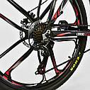Спортивный велосипед черный с красным CORSO SPIDER 26 дюймов 21 скорость алюминиевая рама 17дюймов, фото 8
