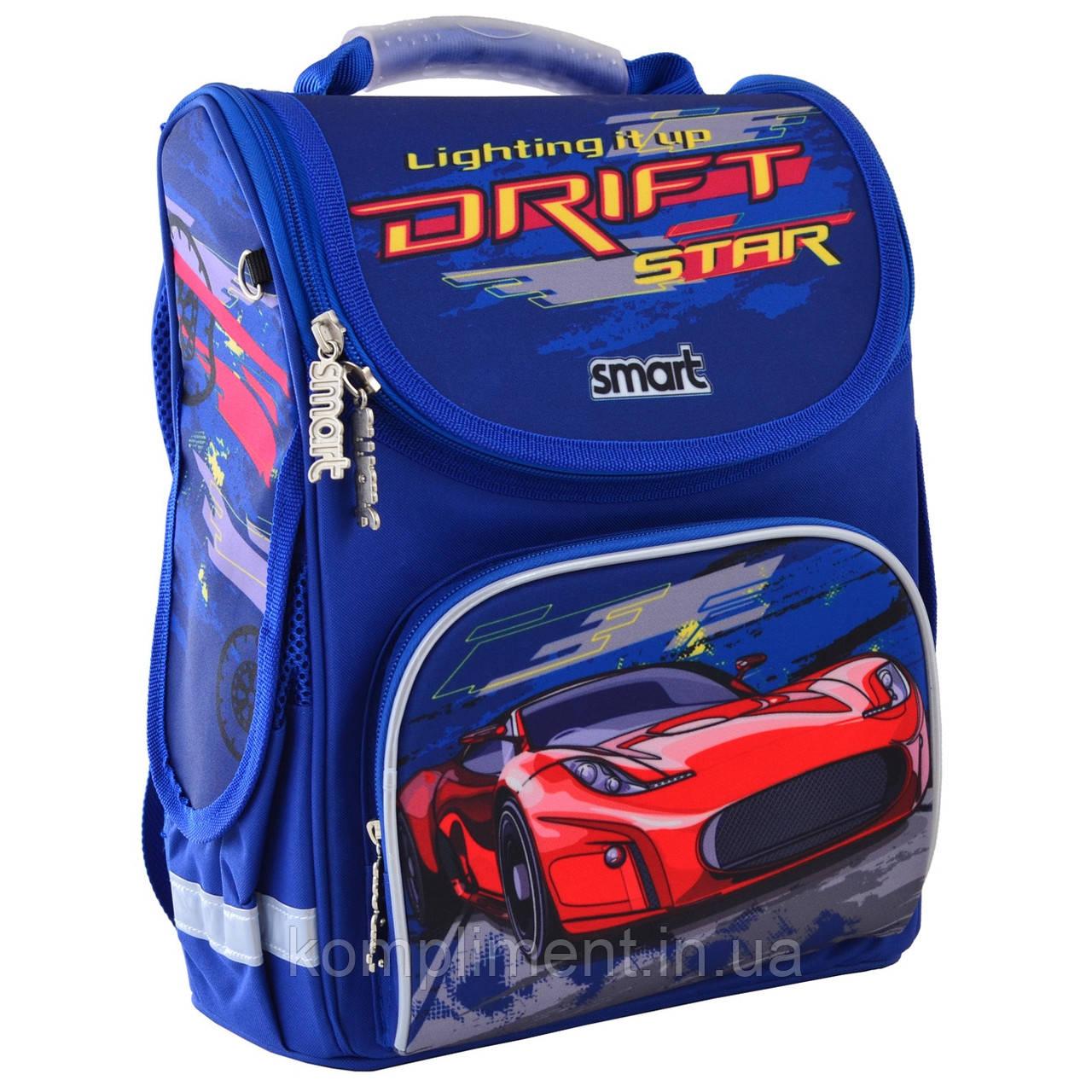 """Рюкзак школьный каркасный ортопедический для мальчика PG-11 """"Drift"""",  SMART"""