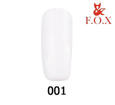 Гель-лак FOX Pigment № 001 (белый, эмаль), 6 мл