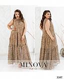 Летнее платье в пол  большой размер ТМ Минова р.50-56, фото 4