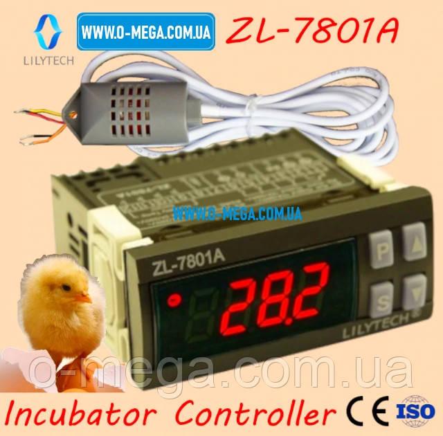 Терморегулятор LILYTECH ZL-7801A регулятор температуры, влажности и переворота яиц