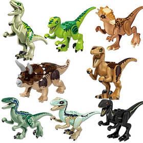 Конструктор Lele 39126 Набор динозавров 8 видов. Минифигурки Лего динозавров  (аналог Lego Jurassic World)