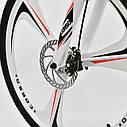 Спортивный велосипед белый CORSO EVOLUTION 26 дюймов 24 скорости алюминиевая рама 17дюймов, фото 5