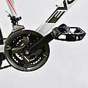 Спортивный велосипед белый CORSO EVOLUTION 26 дюймов 24 скорости алюминиевая рама 17дюймов, фото 7