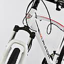Спортивный велосипед белый CORSO EVOLUTION 26 дюймов 24 скорости алюминиевая рама 17дюймов, фото 6