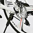Спортивный велосипед белый CORSO EVOLUTION 26 дюймов 24 скорости алюминиевая рама 17дюймов, фото 8