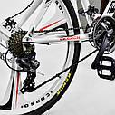 Спортивный велосипед белый CORSO EVOLUTION 26 дюймов 24 скорости алюминиевая рама 17дюймов, фото 9