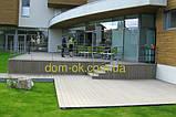 Уголок для террасной доски из ДПК Хольцдорф  3000x47x47 мм альтер, фото 6