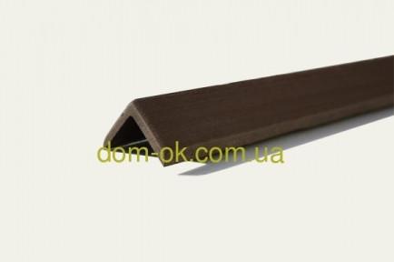 Уголок для террасной доски из ДПК Хольцдорф  3000x47x47 мм импрес