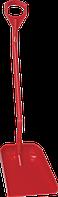 Ергономічна велика лопата з довгою ручкою та широким совком, 1310 мм (з D-подібною ручкою) Vikan (Дания)