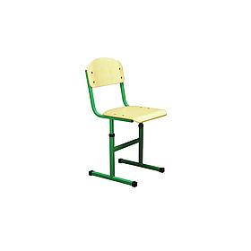 Растущий стул 1 береза карельская/зеленый (Металл дизайн)