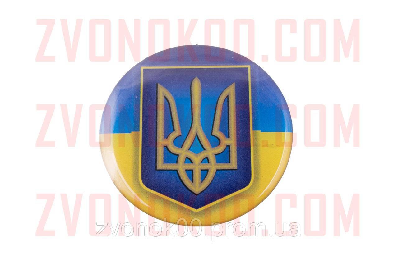 Наклейка   герб на флаге Украины   (7x6см, силикон)   (#2)   (#SEA)