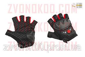 Перчатки без пальцев   (mod:MC-29D,size:L, красные)   SCOYCO