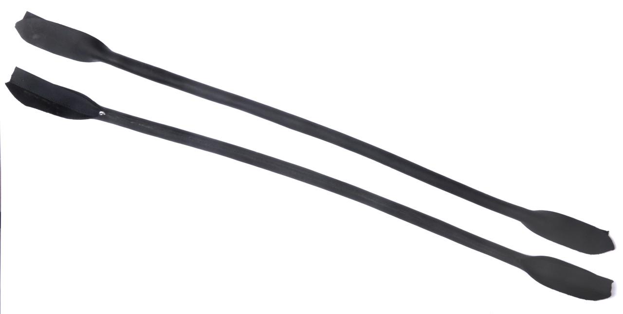 Ручки для сумок, кожа нубук, цв. черный, р. 41/59*1,2 см