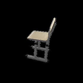 Растущий стул 2 береза карельская/серый бархат (Металл дизайн)