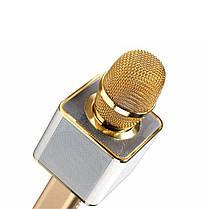 ✓Универсальный микрофон Micgeek Q9 Золотистый USB порт караоке блютуз беспроводной, фото 2