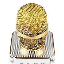 ✓Универсальный микрофон Micgeek Q9 Золотистый USB порт караоке блютуз беспроводной, фото 3