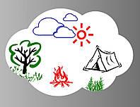 Магнитная доска на холодильник для рисования маркером Тучка 29х42 см (181)