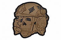 R3ICH НАШИВКА OPERATOR SKULL 3D COYOTE