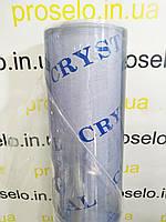 "Пленка ПВХ СИЛИКОН. 600мкм плотность \ Рулон 18.6м. Ширина 1.40м. Прозрачная. Мягкое стекло. ""Crystal""."