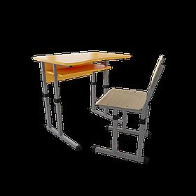 Школьный комплект 1/1 с вырезом (Металл дизайн)