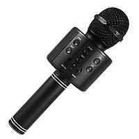 ➛Караоке-микрофон Micgeek WS-858 Black для пения с Bluetooth мощность 5W Батарея 1800 мАч